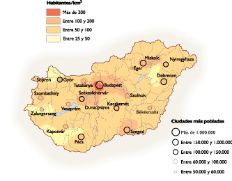Hungary Population map