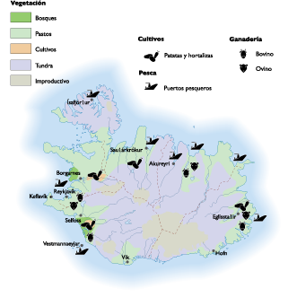 Iceland Agricultural map