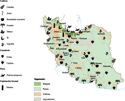 Iran Agricultural map