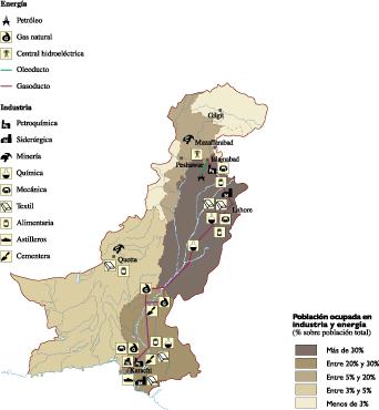 Pakistan Economic map