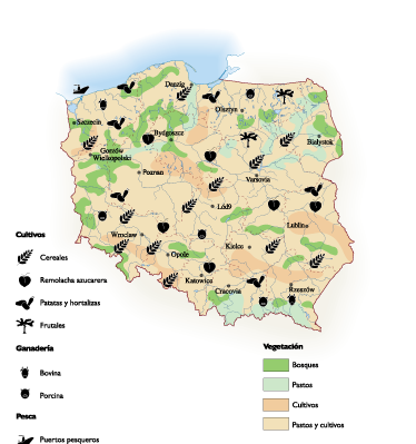 Poland Agricultural map