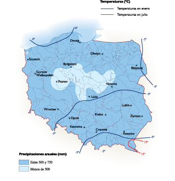 Poland Climate map