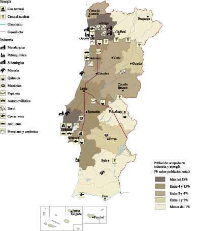 Portugal Economic map