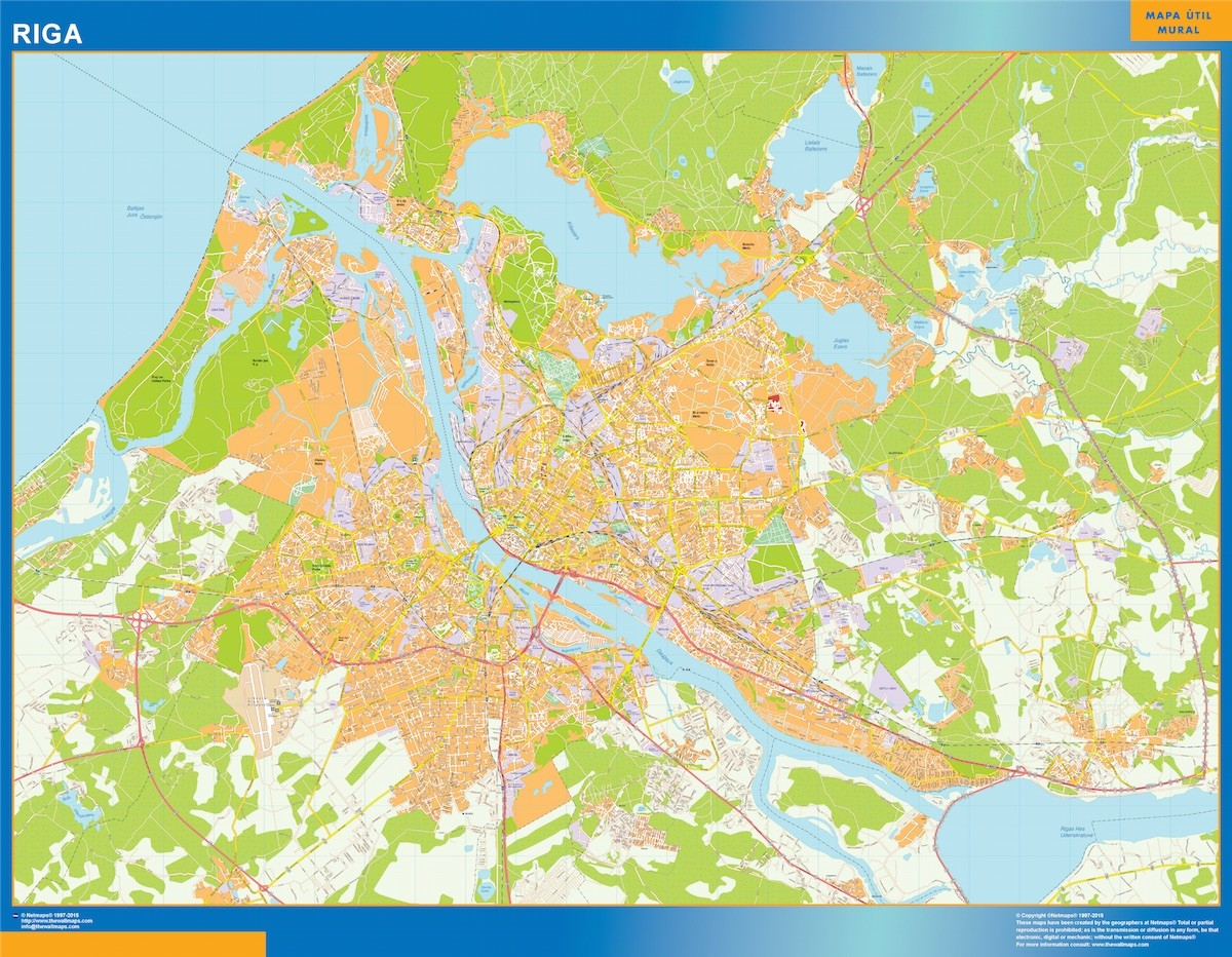 Riga vector map Order and Download Riga vector map made for our