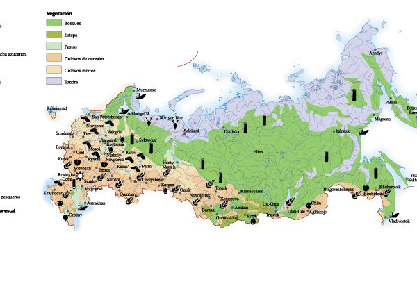 Russia Agricultural map