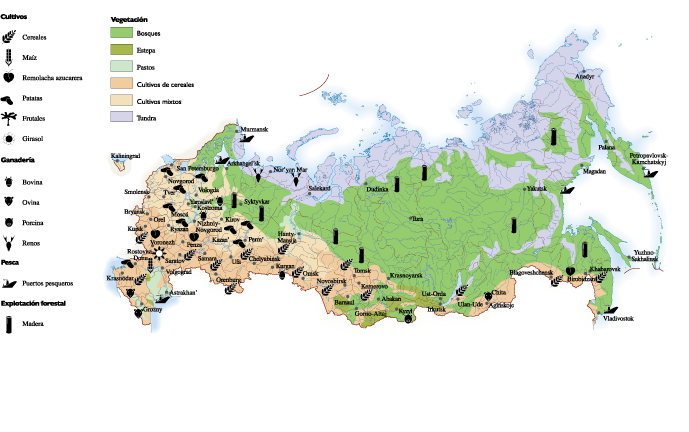 Russia Agricultural map  Order and Download Russia Agricultural