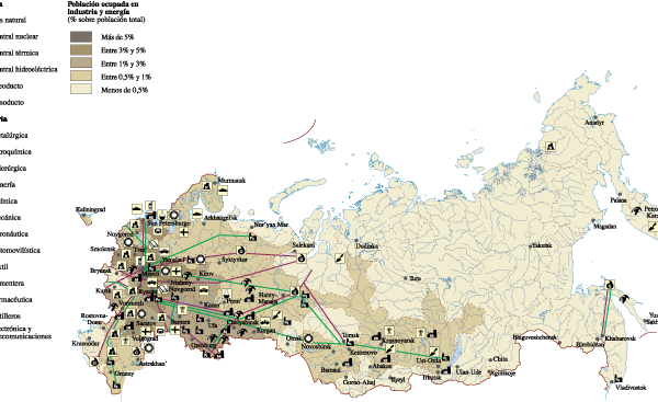 Russia Economic map