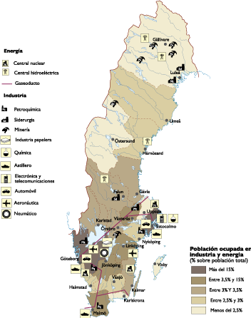 Sweden Economic map