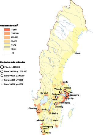 Sweden Population Map Order And Download Sweden Population Map - Sweden map population