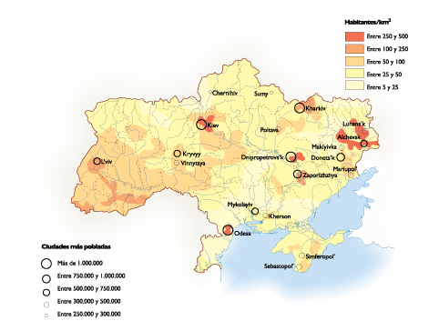 Ukraine Population map