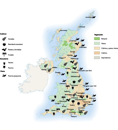 United Kingdom Agricultural map