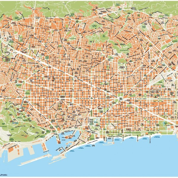 Vector map Barcelona
