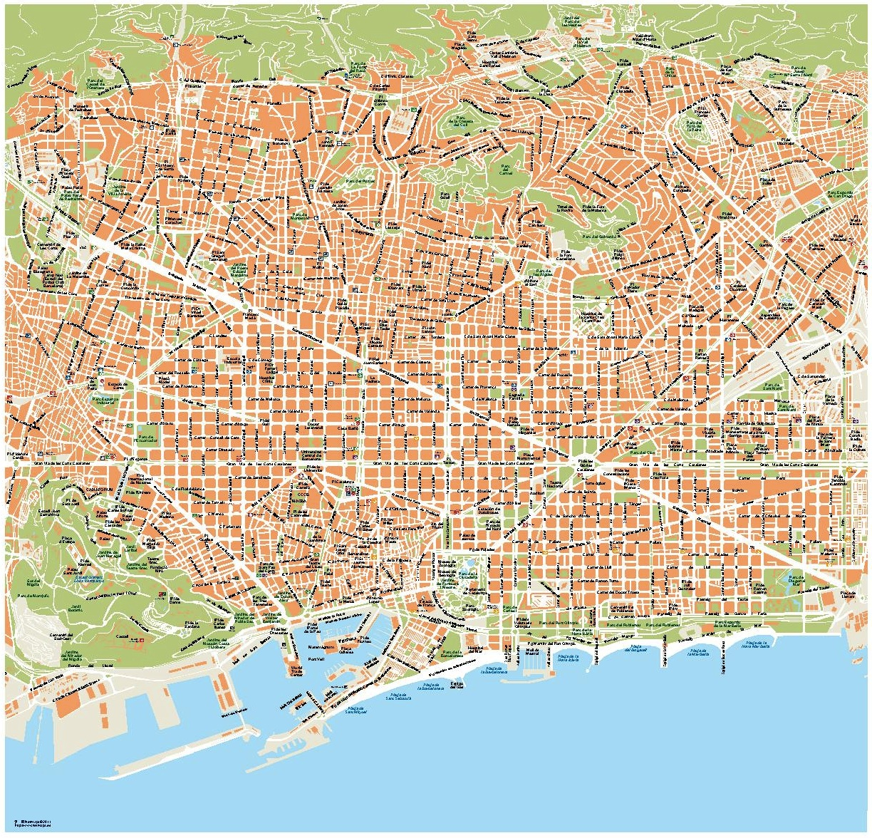 Vector map Barcelona Order and Download Vector map Barcelona made