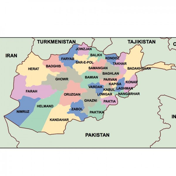 afganisthan powerpoint map