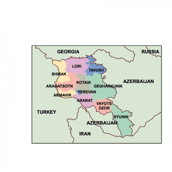 armenia powerpoint map