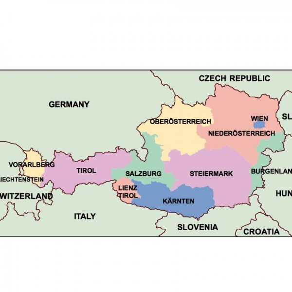 austria powerpoint map