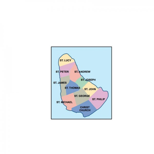 barbados powerpoint map