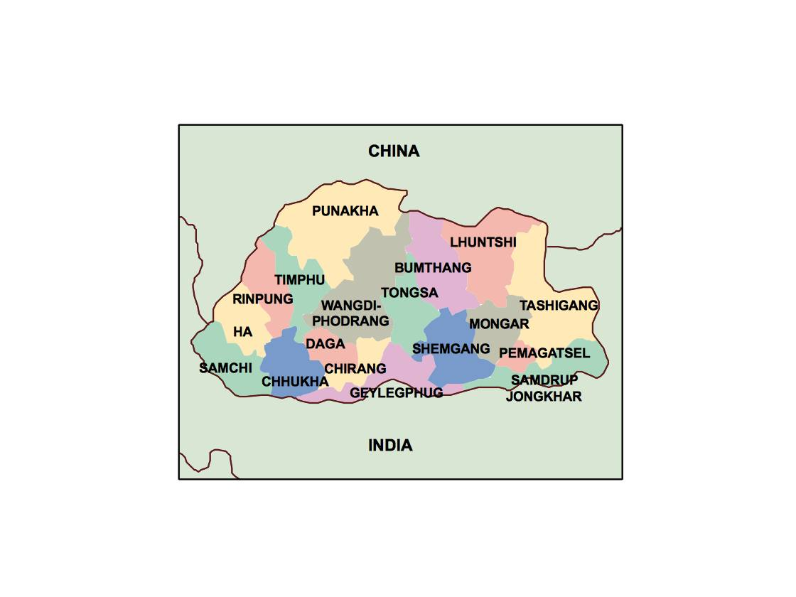 bhutan powerpoint map Order and Download bhutan powerpoint map