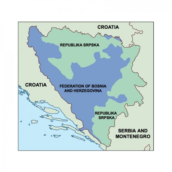bosnia and herzegovina powerpoint map