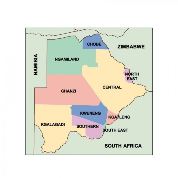 botswana powerpoint map