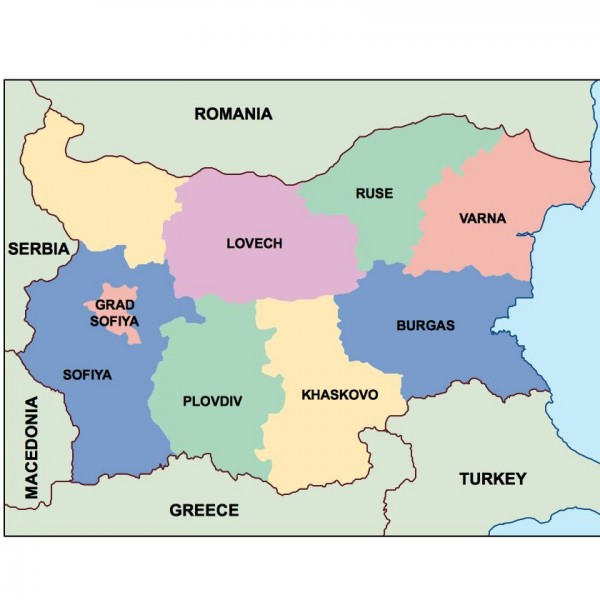 bulgaria powerpoint map