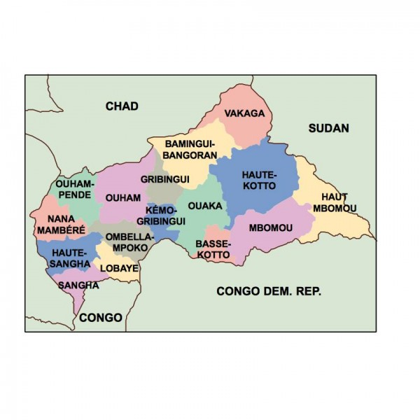 central african republic powerpoint map