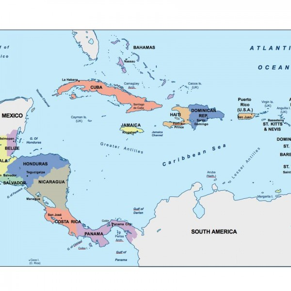 central america powerpoint map