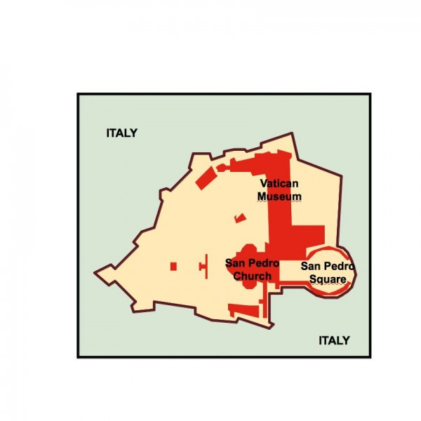 city of vatican powerpoint map