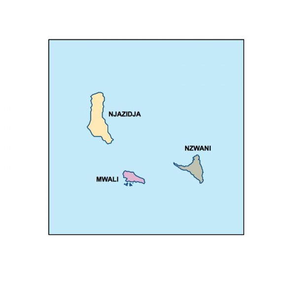 comoros powerpoint map