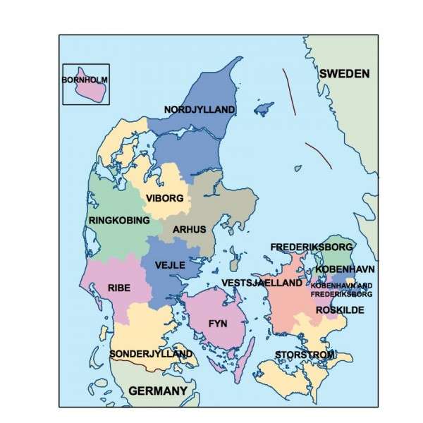 denmark powerpoint map