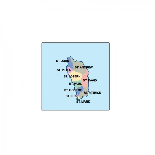 dominica powerpoint map