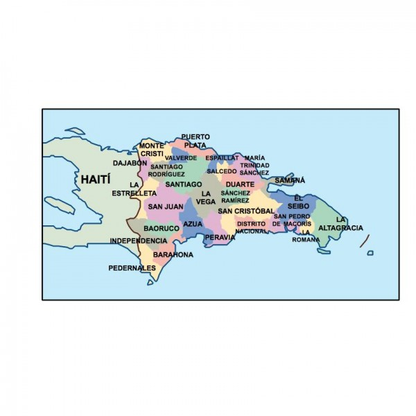 dominican republic powerpoint map