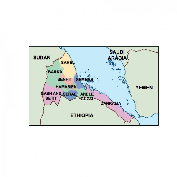 eritrea powerpoint map
