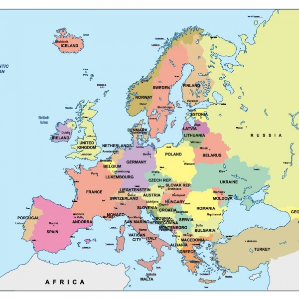 europe powerpoint map