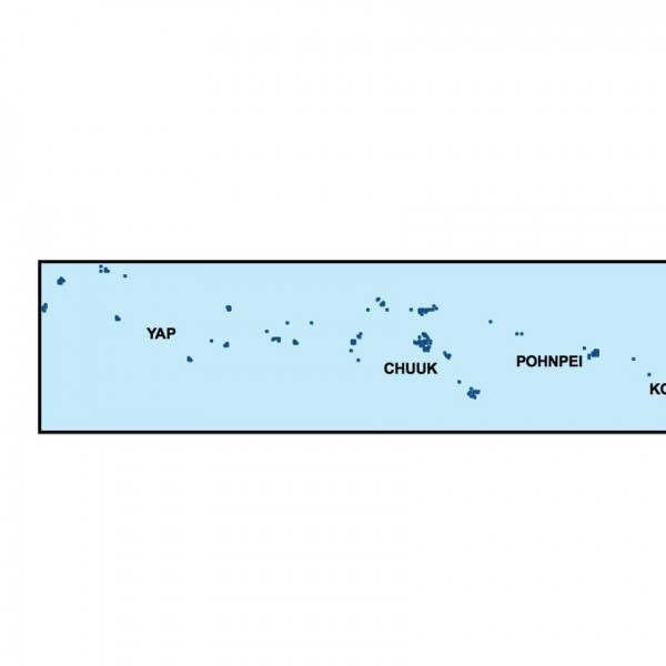 federated states of micronesia powerpoint map