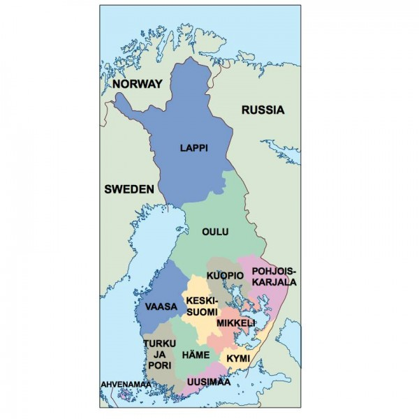 finland powerpoint map