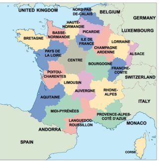 Country Map Of France.France Eps Country Maps For Adobe Illustrator As Vector Eps Maps