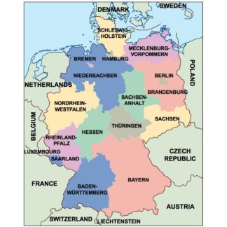 Country Of Germany Map.Germany Eps Country Maps For Adobe Illustrator As Vector Eps Maps
