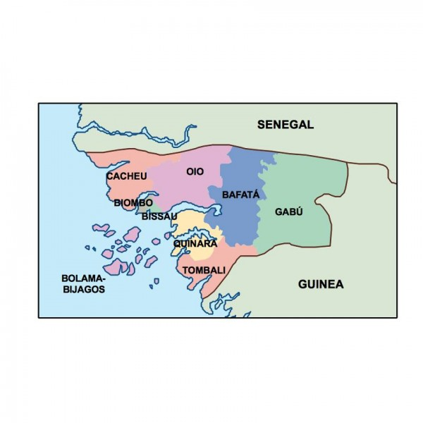guinea bissau powerpoint map