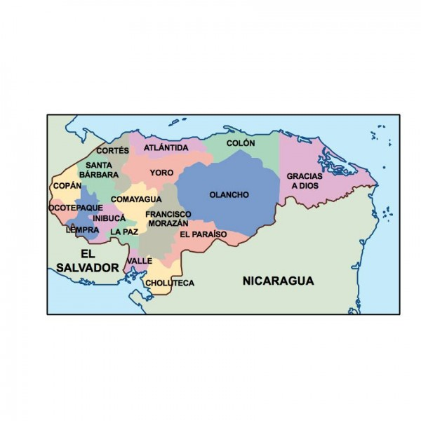 honduras powerpoint map