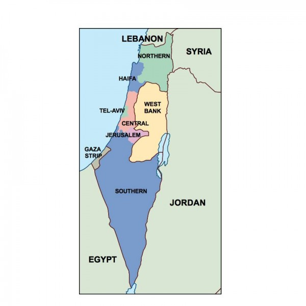 israel powerpoint map