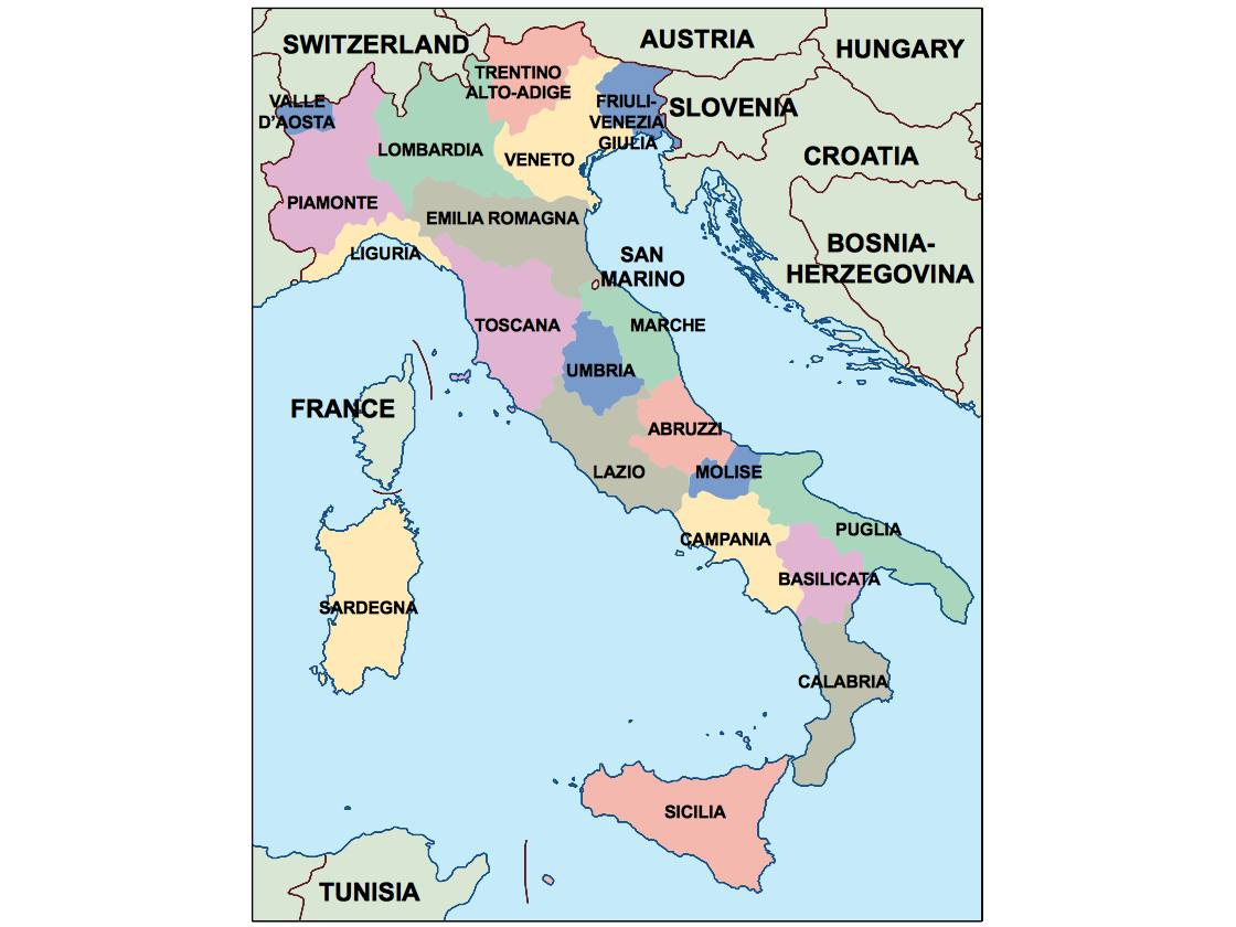 italy powerpoint map Order and Download italy powerpoint map made
