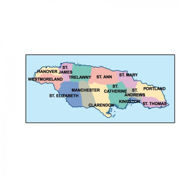 jamaica powerpoint map