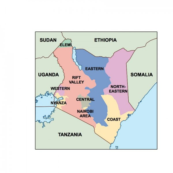 kenya powerpoint map