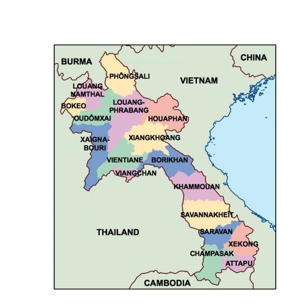 laos powerpoint map
