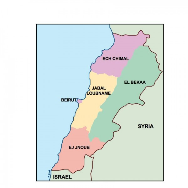 lebanon powerpoint map