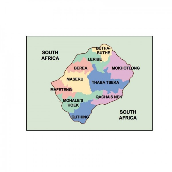lesotho powerpoint map