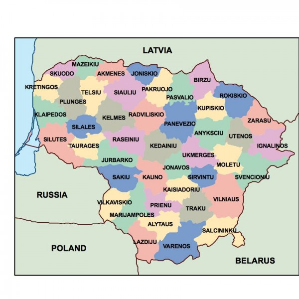 lithuania powerpoint map