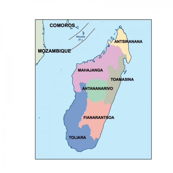madagascar powerpoint map