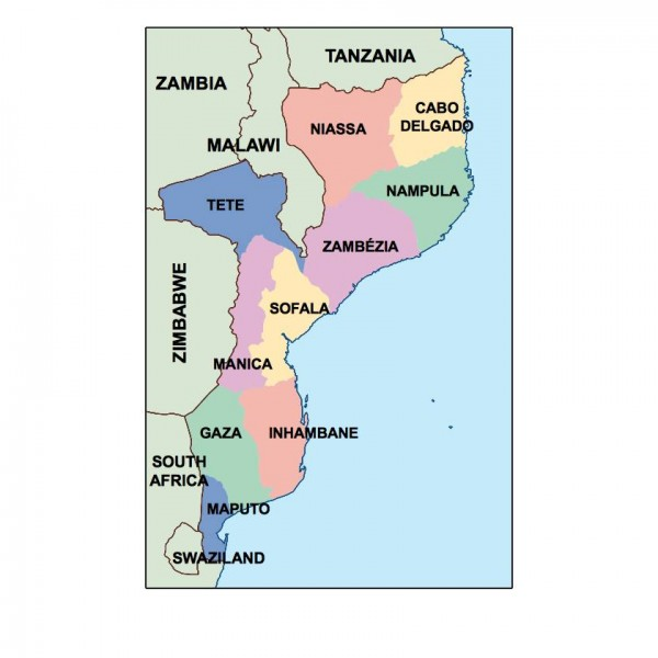 mozambique powerpoint map